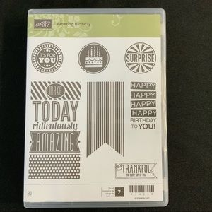 STAMPIN' UP Amazing Birthday Cling Rubber Stamps